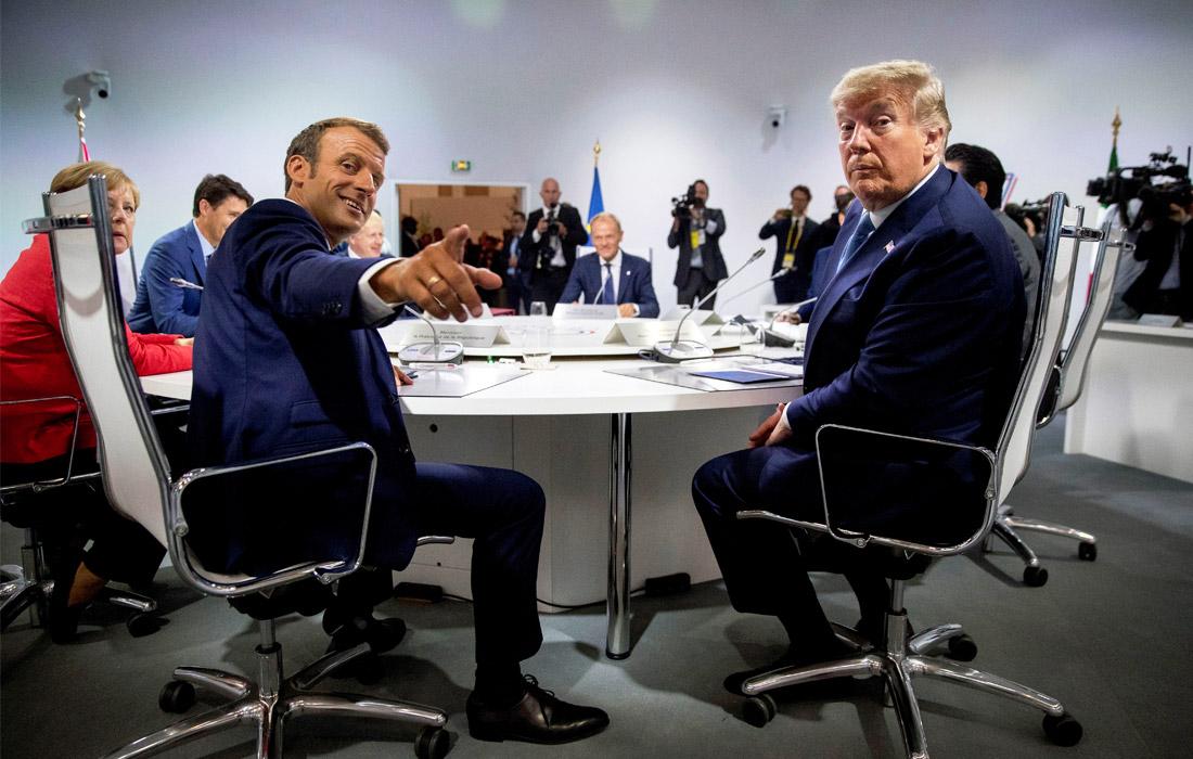 """В первый день саммита G7 лидеры стран-участниц обсудили вопрос возвращения к формату """"восьмерки"""" с участием России, а также ядерную программу Ирана. Стороны согласились в том, что Тегерану нельзя позволять иметь ядерное оружие, и договорились стремиться к миру и стабильности в регионе."""