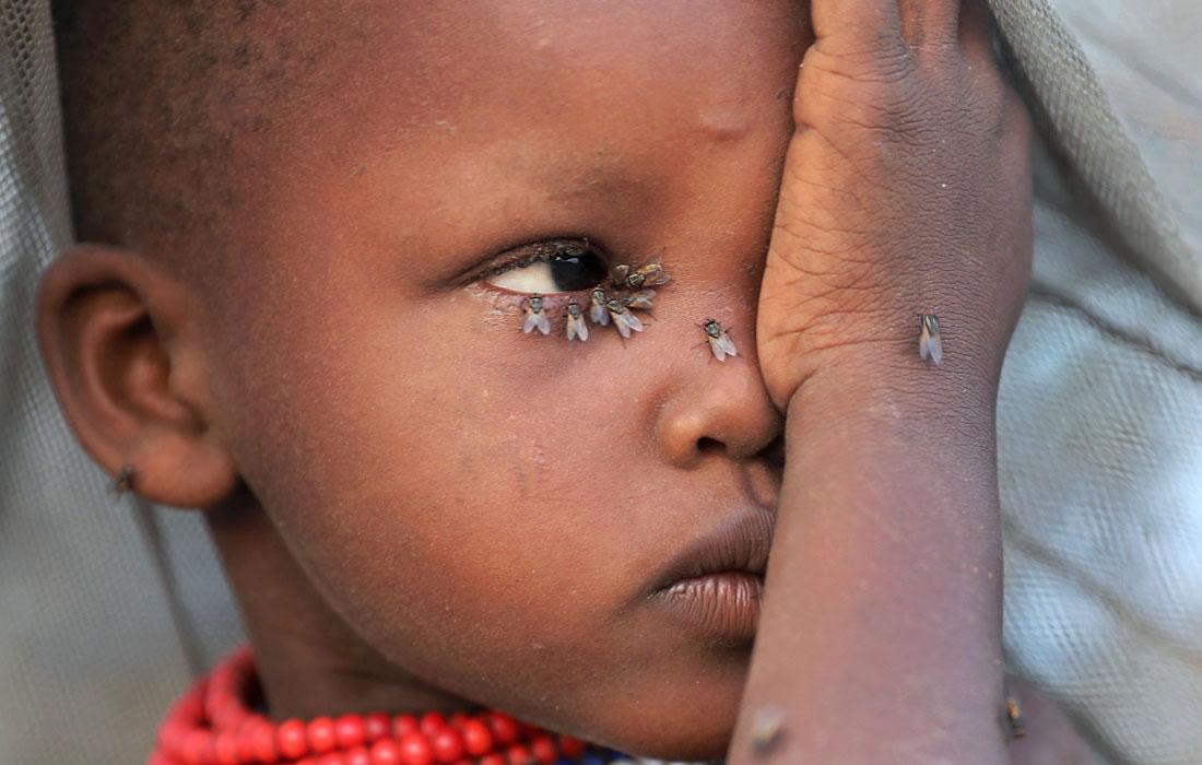 Девочка народности Туркана в Кении