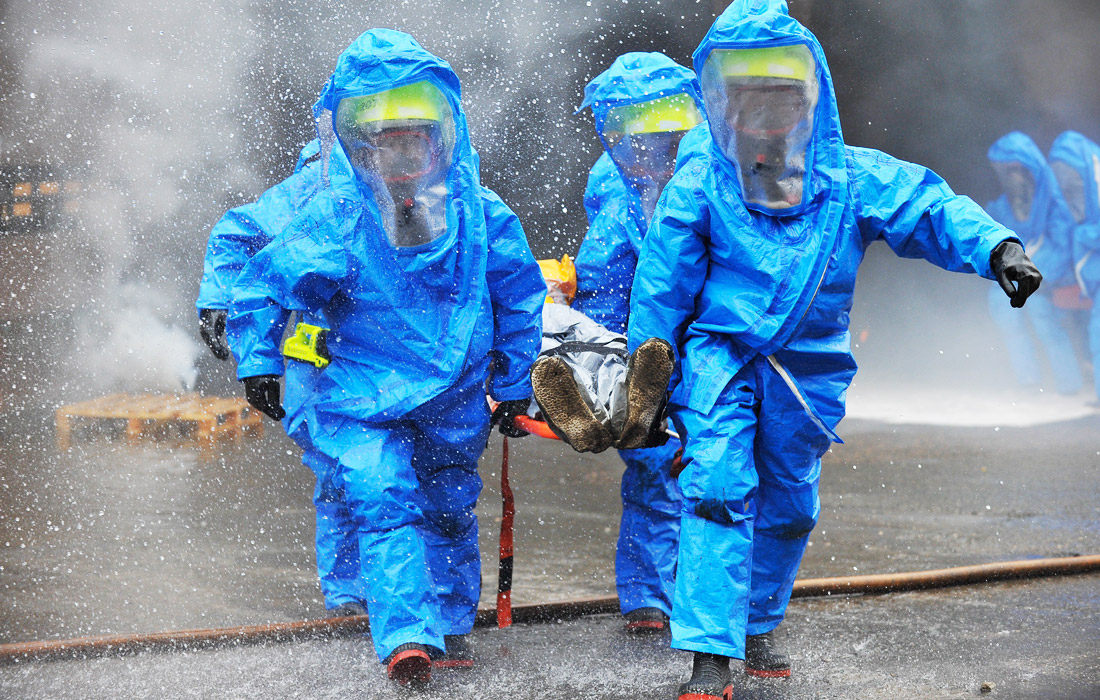 Учения МЧС по ликвидации чрезвычайных ситуаций прошли в Москве