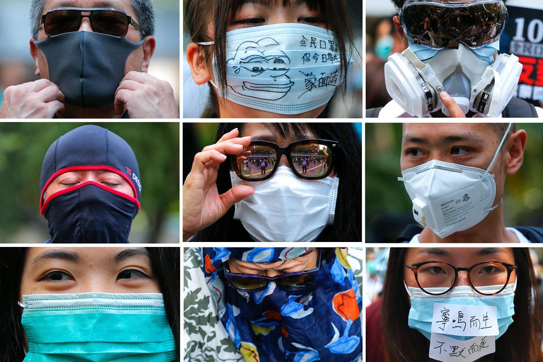 В Гонконге начались многотысячные протесты на фоне запрета властей на ношение масок и других покрывающих лицо предметов во время демонстраций. Для этого чиновники используют механизм колониальной эпохи - акт 1922 года об урегулировании чрезвычайных ситуаций.
