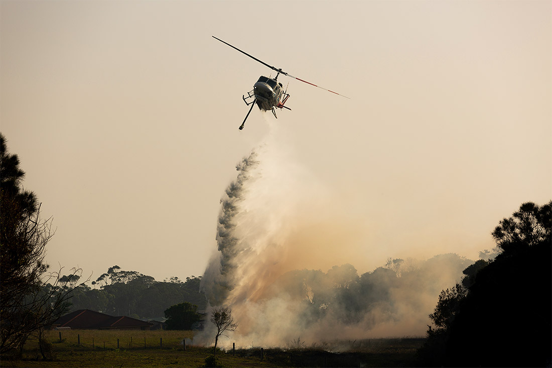 В Новом Уэльсе в Австралии бушуют пожары