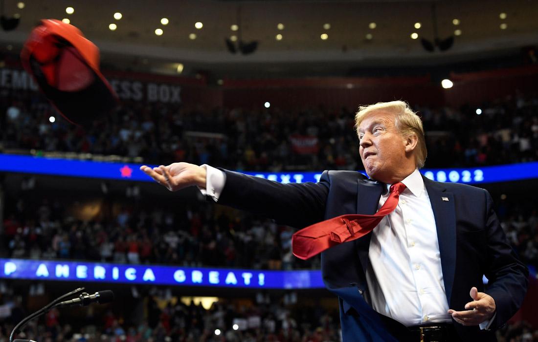 Президент США Дональд Трамп провел встречу со сторонниками в Санрайзе, Флорида