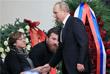 Владимир Путин во время церемонии прощания