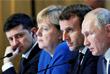 В общей сложности лидеры России и Франции, Германии и Украины общались вчетвером более 5,5 часов
