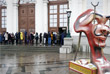 Очередь на выставку Сальвадора Дали в Москве