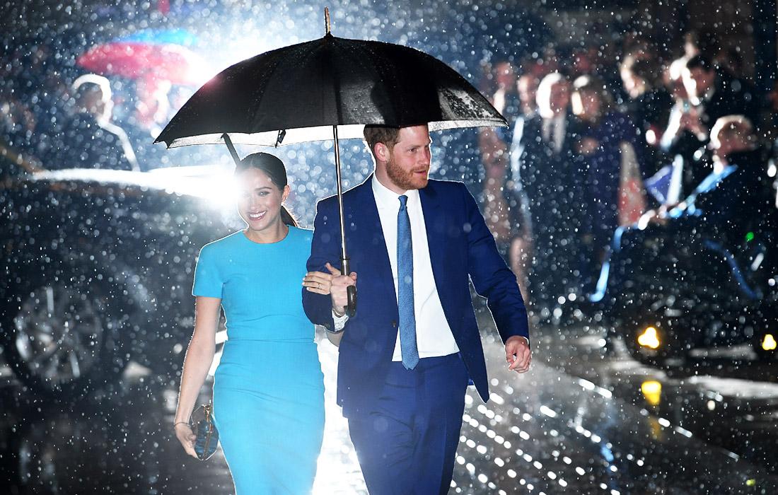 Первый официальный выход принца Гарри и Меган Маркл после отказа от королевских обязанностей. Лондон, Великобритания.