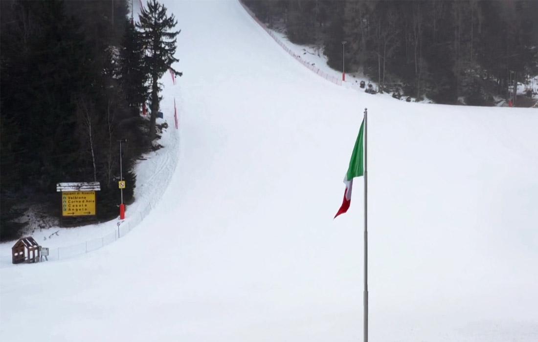 Власти Италии приняли решение приостановить работу всех горнолыжных станций страны