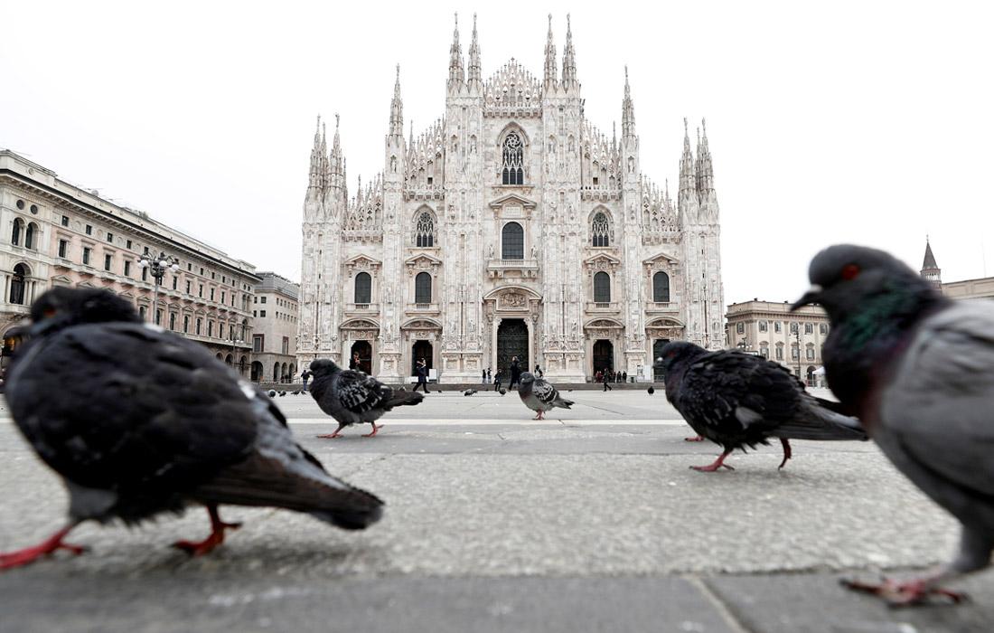 Улицы итальянских городов опустели