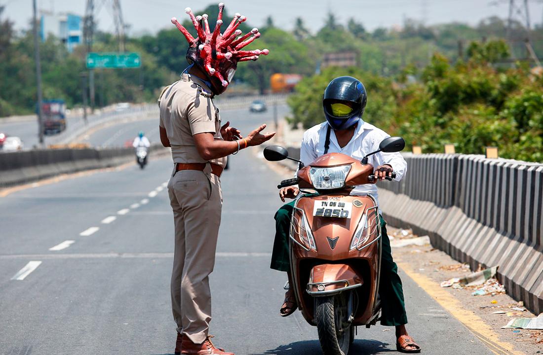 29 марта. Полиция Индии арестовала более 3 тысяч человек за нарушение карантина.