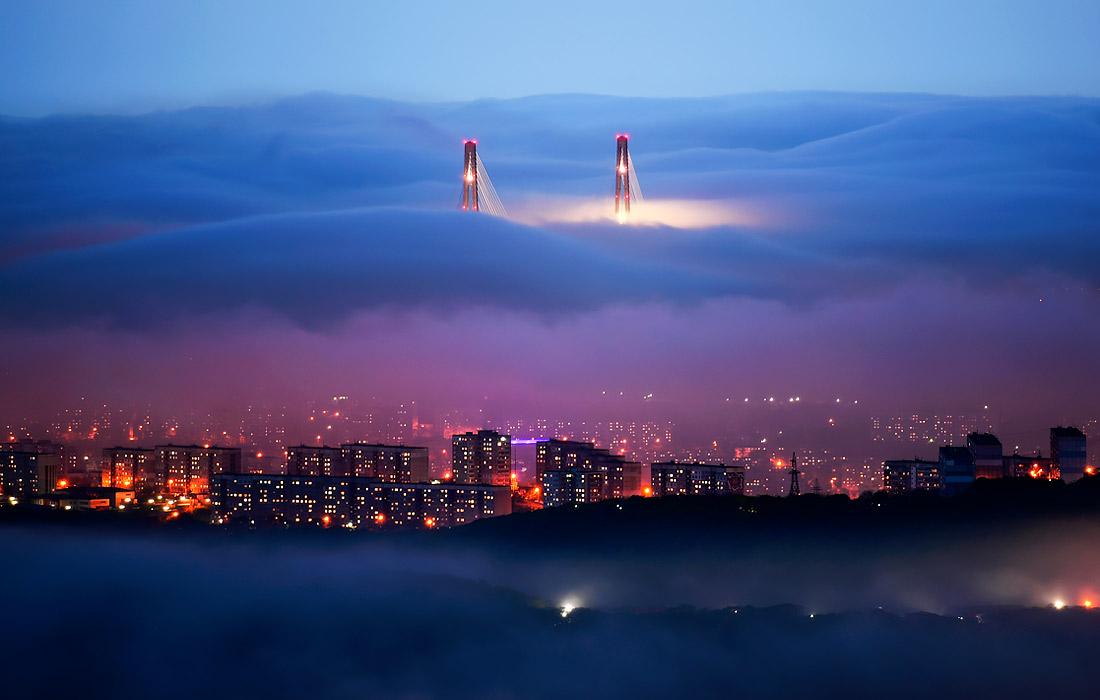 Туман во Владивостоке