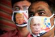 В Индии начали продавать защитные маски с портретами мировых лидеров