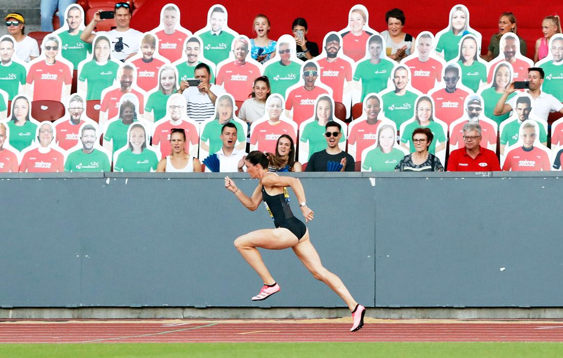 10 июля. В Цюрихе состоялся второй выставочный этап Бриллиантовой лиги по легкой атлетике. Настадион были допущены 300зрителей.