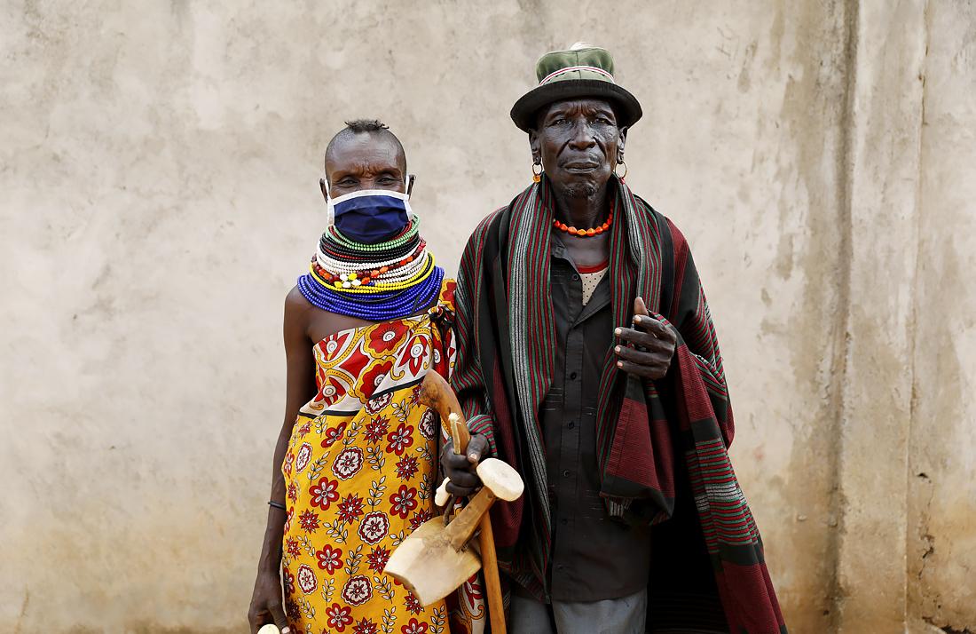 Представители африканского племени туркана в Кении