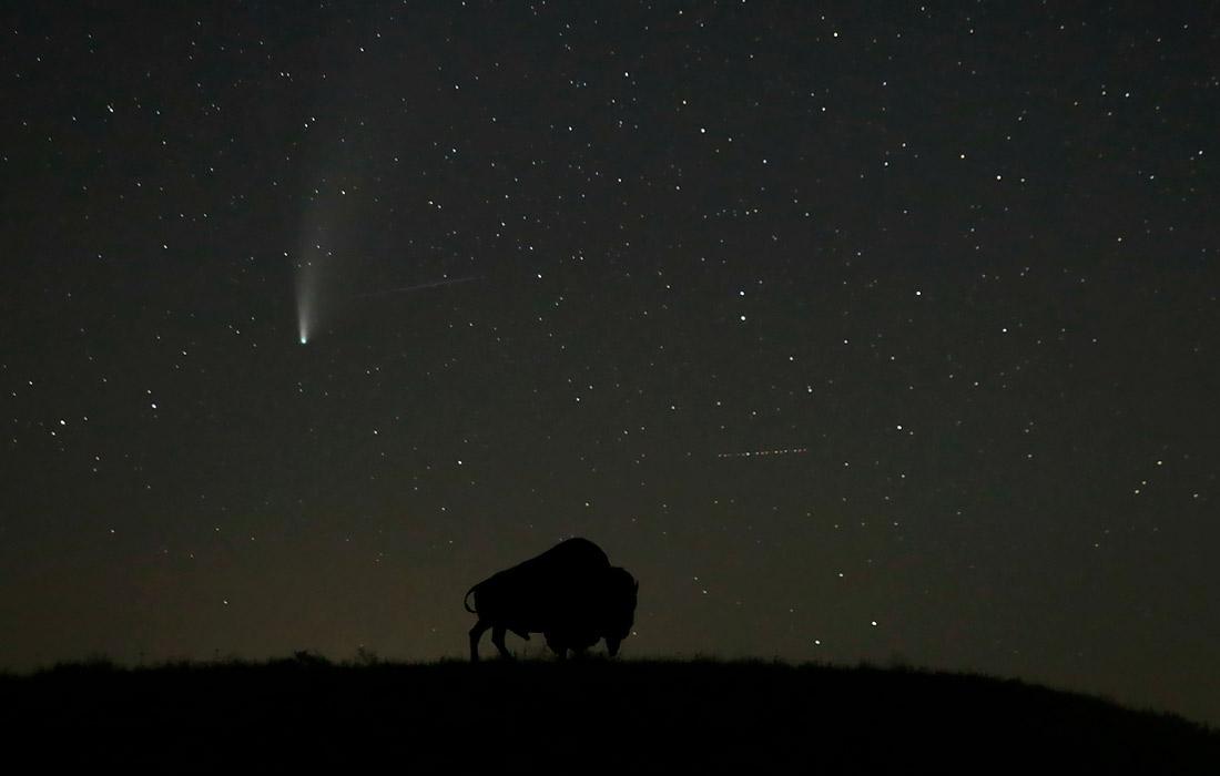 Комета Neowise в небе над штатом Канзас, США