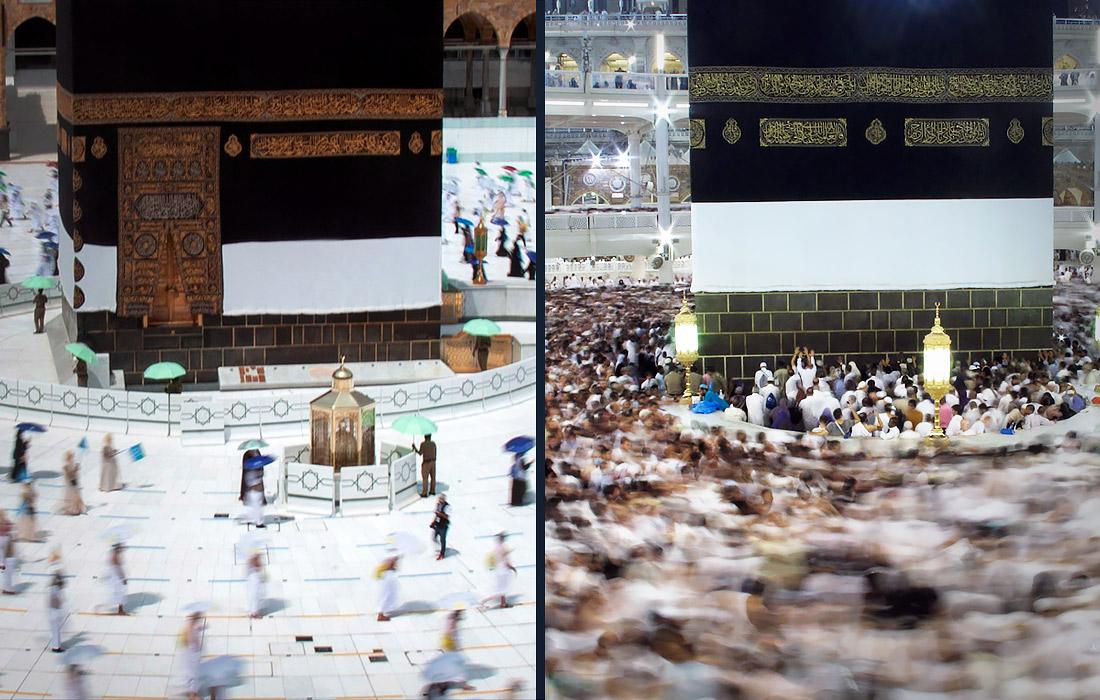 Обычно ежегодно в хадже принимают участие не сотни, а миллионы человек. В прошлом году в Саудовскую Аравию с этой целью прибыли 2,5 млн паломников (фото справа).