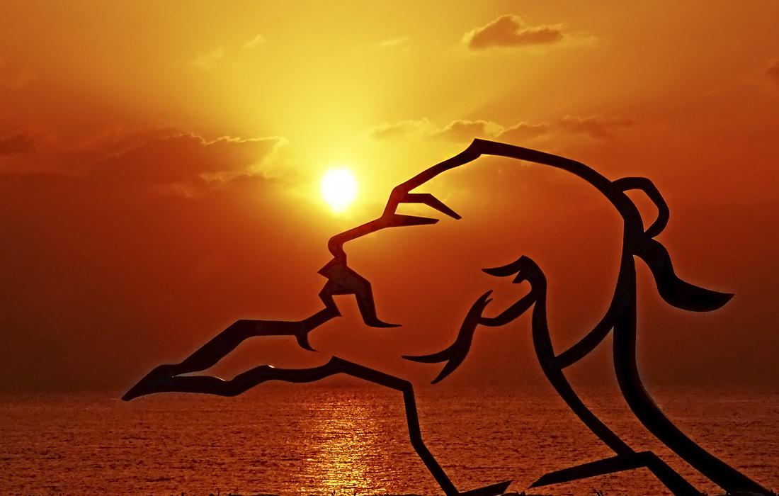 Восход солнца в китайском Даляне