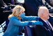 Президент США с супругой во время церемонии