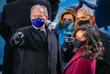 Бывший президент США Джордж Буш, спикер Палаты представителей США Нэнси Пелоси, бывший президент США Барак Обама и Мишель Обама перед встречей избранного президента США