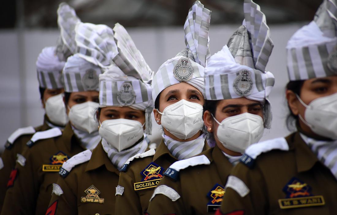Празднование Дня Республики Индии в Кашмире