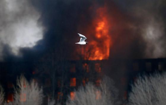 """Пожар в здании """"Невской мануфактуры"""""""