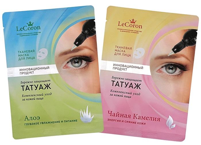 LeCoron: Созданы косметические маски с защитой татуажа