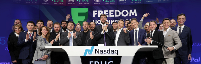 Год на NASDAQ: акции Freedom Holding Corp. выросли на 89%