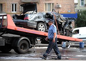 Авария в центре Москвы. Фото