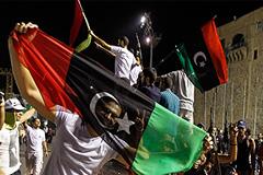 Павшее знамя Каддафи
