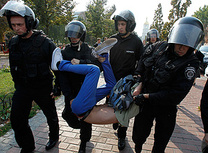 """Украинские студенты: """"Геть Табачника!"""""""