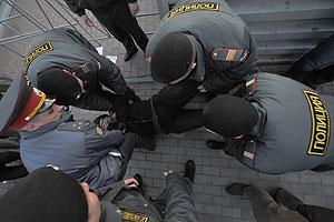 Оппозиционер против полиции