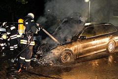 Автомобили горят