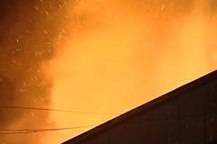 Пожар и взрыв газа в Бронницах