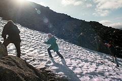 Туристов накрыло лавиной