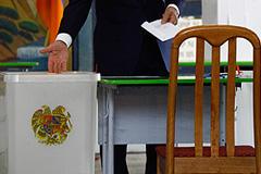 В Армении подсчитывают голоса