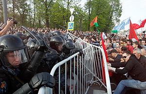 Задержанные и пострадавшие на марше
