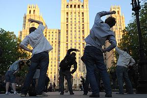 Лагерь-фестиваль в центре Москвы