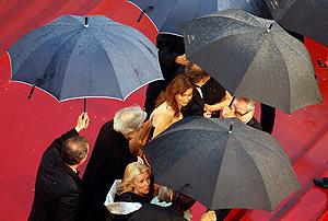 Канны под дождем