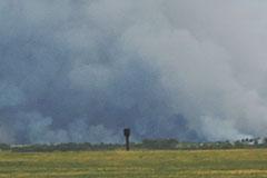 Пожар и взрывы на военных складах