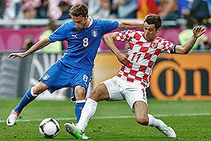 Италия сыграла вничью с Хорватией