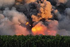 Курение на арсенале привело к взрыву