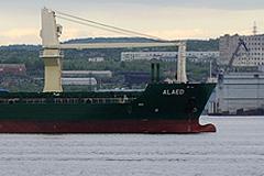 Alaed возвращается в порт