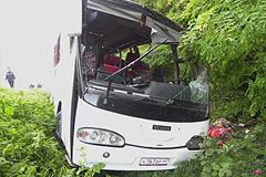 Водитель автобуса с паломниками заснул