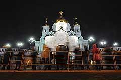 Храм Христа Спасителя снова пострадал