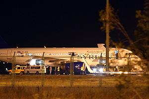 Сирийский самолет отпустили