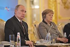 Путин, Меркель и чучело еврея