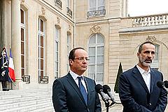 В Париже приняли сирийских оппозиционеров