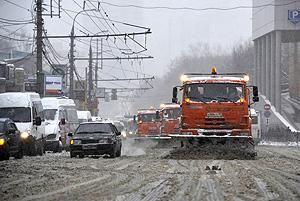 Москву накрыл снегопад