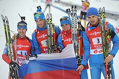 Биатлонисты стали первыми в Сочи