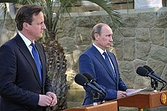 Путин и Кэмерон обсудили ситуацию в Сирии