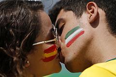Испания - Италия. Трансляция